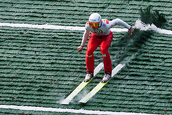 Robert Hrgota during Slovenian summer national championship and opening of the reconstructed Bloudek's hill in Planica on October 14, 2012 in Planica, Ratece, Slovenia. (Photo by Grega Valancic / Sportida)