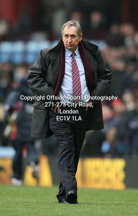 31/10/2010 - Barclays Premier League - Aston Villa vs. Birmingham City - Villa manager Gerard Houllier - Photo: Simon Stacpoole / Offside.