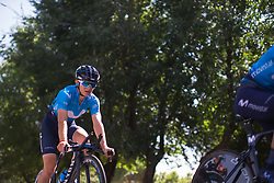 Malgorzata Jasinska (POL) of Movistar Women's Team warms up for Stage 1 of the Madrid Challenge - a 12.6 km team time trial, starting and finishing in Boadille del Monte on September 15, 2018, in Madrid, Spain. (Photo by Balint Hamvas/Velofocus.com)