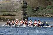 Mortlake/Chiswick, GREATER LONDON. United Kingdom. Lea Rowing Club<br /> W.MasE.8+, competing at the 2017 Vesta Veterans Head of the River Race, The Championship Course, Putney to Mortlake on the River Thames.<br /> <br /> <br /> Sunday  26/03/2017<br /> <br /> [Mandatory Credit; Peter SPURRIER/Intersport Images]