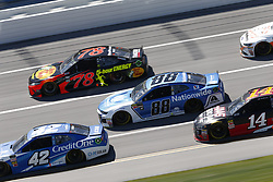 April 29, 2018 - Talladega, Alabama, United States of America - Alex Bowman (88)  battles side by side down the front stretch for position during the GEICO 500 at Talladega Superspeedway in Talladega, Alabama. (Credit Image: © Justin R. Noe Asp Inc/ASP via ZUMA Wire)