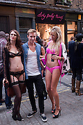 STACEY FENTON; MURRAY ASH; SAMANTHA SCARBOROUGH;; , Dirty Pretty Things - summer party. Lingerie line hosts  party celebrating its new online shop and showcasing the latest collection. The Lingerie Collective, 8 Ganton Street, Soho. London, 15 June 2011<br /> <br />  , -DO NOT ARCHIVE-© Copyright Photograph by Dafydd Jones. 248 Clapham Rd. London SW9 0PZ. Tel 0207 820 0771. www.dafjones.com.