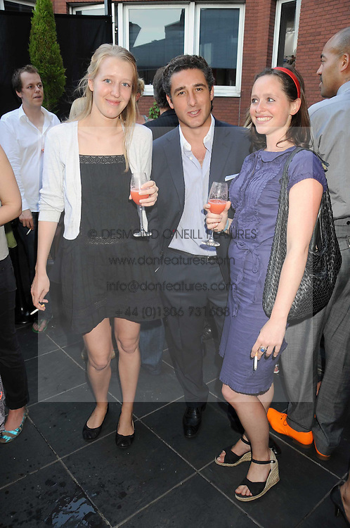 Left to right, ALICE ROTHSCHILD, LUCA DEL BONO and JADE SUMMER at the Beat Summer party hosted by Luca del Bono at L'Atelier De Joel Robuchon, 13-15 West Street, Covent Garden, London on 1st July 2008.<br /><br />NON EXCLUSIVE - WORLD RIGHTS