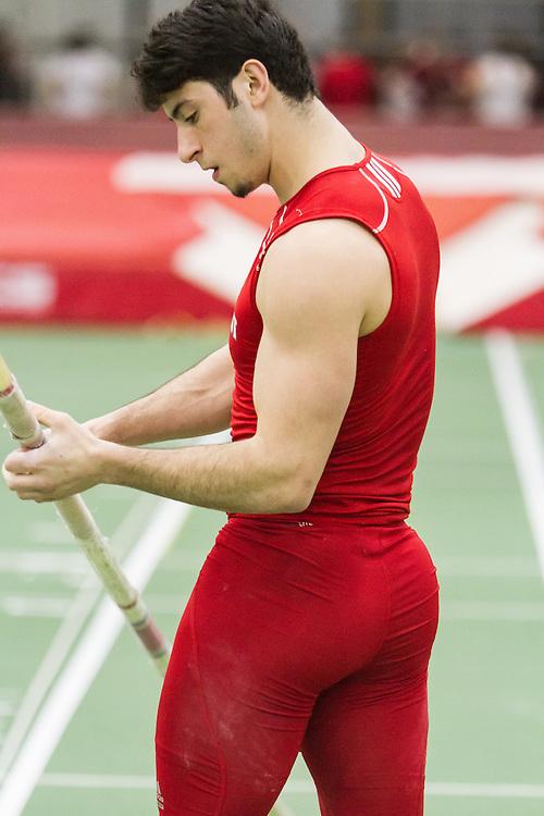 Boston University Multi-team indoor track & field, men pole vault, Sacred Heart,