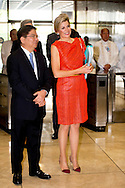 1-7- 2015 MANILLA - Meeting with Amando M. Tetangco jr., Gouverneur van de Centrale Bank over de Nationale Strategie<br /> 	voor Inclusieve Financiering . Queen Maxima during a three-day visit to the Philippines, as a special advocate of the Secretary-General of the United Nations. Queen Máxima visits in her capacity as special advocate of the Secretary-General of the United Nations for inclusive finance for development (inclusive finance for development). manila COPYRIGHT ROBIN UTRECHT