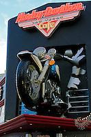 Shop sign of the  Harley Davidson Cafe in Las Vegas,Nevada.