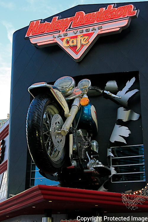 Shop sign of the  Harley Davidson Cafe in Las Vegas,Nevada.