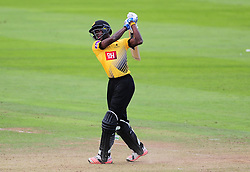 Jofra Archer of Sussex hits down the ground.  .   - Mandatory by-line: Alex Davidson/JMP - 30/07/2016 - CRICKET - Cooper Associates County Ground - Taunton, United Kingdom - Somerset v Sussex - Royal London One Day