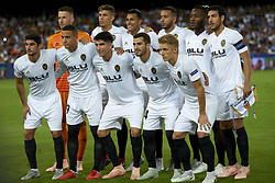 September 19, 2018 - Valencia, Spain - Line up of Valencia (L-R) Neto,Gabriel,Jeison Murillo,Ruben Vezo, Michy Batshuayi, Daniel Parejo, Guedes, Rodrigo Moreno, Carlos Soler, Jose Gaya, Daniel Wass during the Group H match of the UEFA Champions League between Valencia CF and Juventus at Mestalla Stadium on September 19, 2018 in Valencia, Spain. (Credit Image: © Jose Breton/NurPhoto/ZUMA Press)