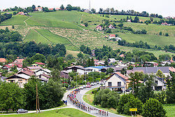 Cyclists at Zgornja Polskava during 2nd Stage of 25th Tour de Slovenie 2018 cycling race between Maribor and Rogaska Slatina (152,7 km), on June 14, 2018 in  Slovenia. Photo by Vid Ponikvar / Sportida