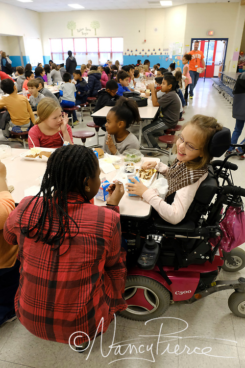 Child Nutrition - Dolphin Cove Cafe at Smithfield Elementary - Inclusion of child who uses a wheelchair