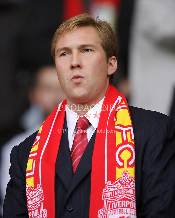 Liverpool, England - Sunday, August 19, 2007: Thomas Hicks Jnr, son of Liverpool co-owner Tom Hicks, during the Premiership match against Chelsea at Anfield. (Photo by David Rawcliffe/Propaganda)