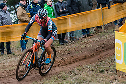 FAHRINGER Rebecca (USA) during Women Elite race, 2019 UCI Cyclo-cross World Cup Heusden-Zolder, Belgium, 26 December 2019. <br /> <br /> Photo by Pim Nijland / PelotonPhotos.com <br /> <br /> All photos usage must carry mandatory copyright credit (Peloton Photos | Pim Nijland)
