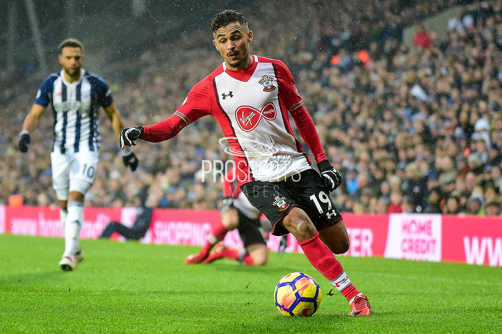 Southampton midfielder Sofiane Boufal (19) looks to cross during the Premier League match between West Bromwich Albion and Southampton at The Hawthorns, West Bromwich, England on 3 February 2018. Picture by Dennis Goodwin.