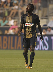 July 26, 2017 - Chester, PA, United States of America - Philadelphia Union Attacker C.J. SAPONG (17) in action in the second half of a Major League Soccer match between the Philadelphia Union and Columbus Crew SC Wednesday, July. 26, 2017, at Talen Energy Stadium in Chester, PA. (Credit Image: © Saquan Stimpson via ZUMA Wire)