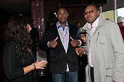 EMILIANA SILVESTRI; MICHAEL LLOYD PINQ; JEROME WILLIAMS, Tresor Paris 1st Birthday Party: Gilgamesh, Camden, The Stables Market, 9 May 2012