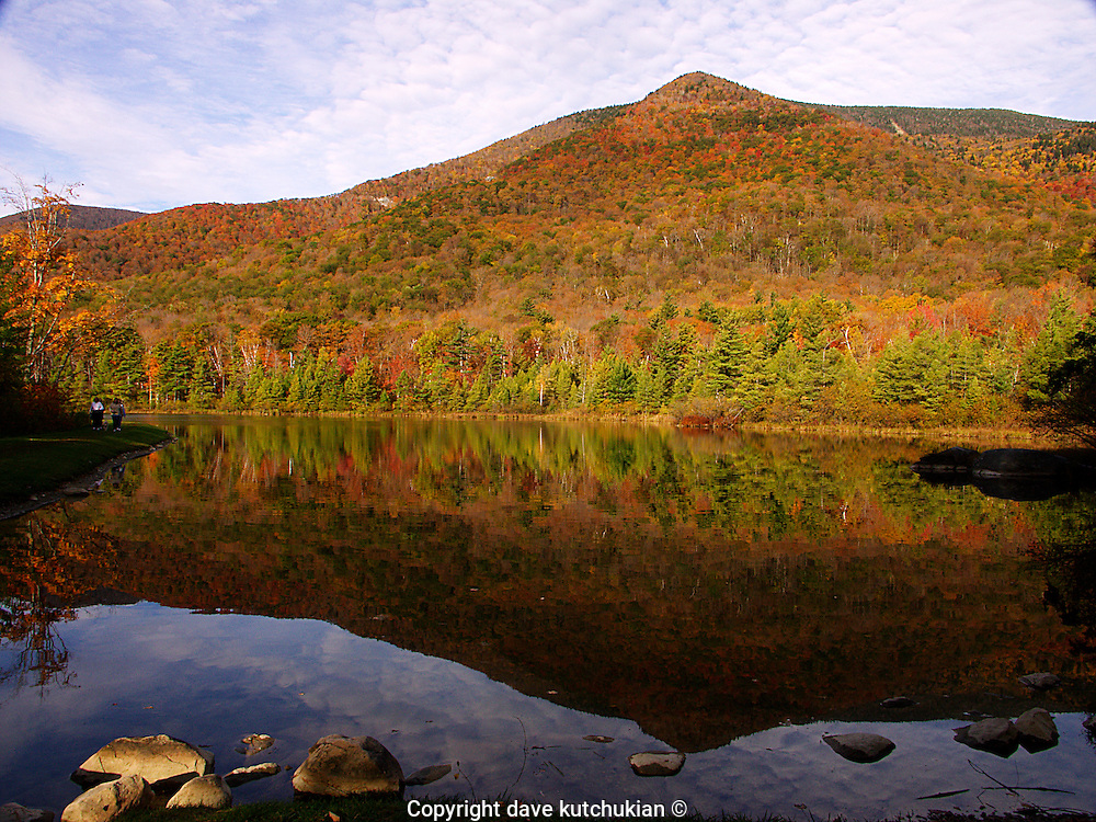 Equinox Pond, Manchester,Vermont at the height of Foliage Season. <br />