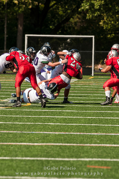 John Jay Varsity Football game at Sleepy Hollow on September 17, 2016. (photo by Gabe Palacio)
