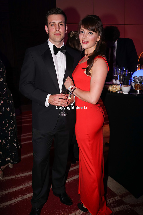 Westminster, UK. 20th Apr, 2017.  Lindsay & Ian burkinshaw - Lean Bean nutrition planning attends The annually National UK Blog Awards at Park Plaza Westminster Bridge, London. by See Li