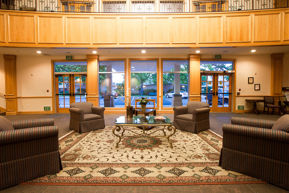 Foyer of Hillcrest Meetinghouse at Hillcrest Retirement Community in La Verne, CA