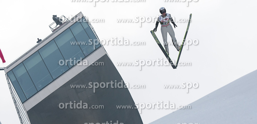 03.01.2015, Bergisel Schanze, Innsbruck, AUT, FIS Ski Sprung Weltcup, 63. Vierschanzentournee, Innsbruck, Training, im Bild Lukas Hlava (CZE) // Lukas Hlava Czech Republic soars through the air during a training session for the 63rd Four Hills Tournament of FIS Ski Jumping World Cup at the Bergisel Schanze in Innsbruck, Austria on 2015/01/03. EXPA Pictures © 2015, PhotoCredit: EXPA/ Jakob Gruber