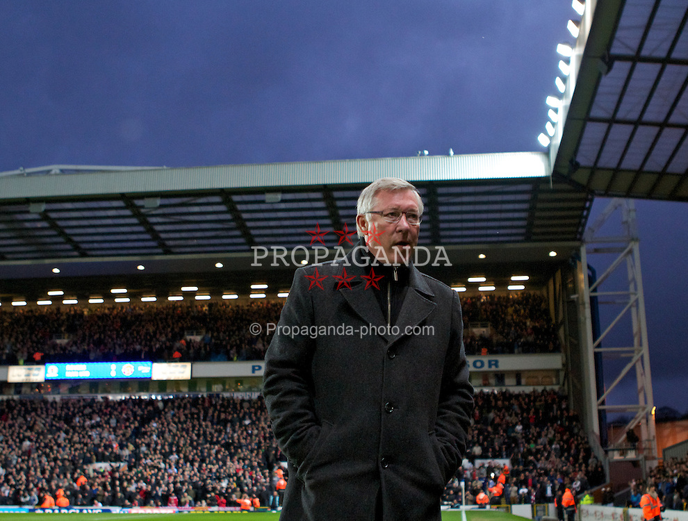 BLACKBURN, ENGLAND - Monday, April 2, 2012: Manchester United's manager Alex Ferguson before the Premiership match against Blackburn Rovers at Ewood Park. (Pic by Vegard Grott/Propaganda)
