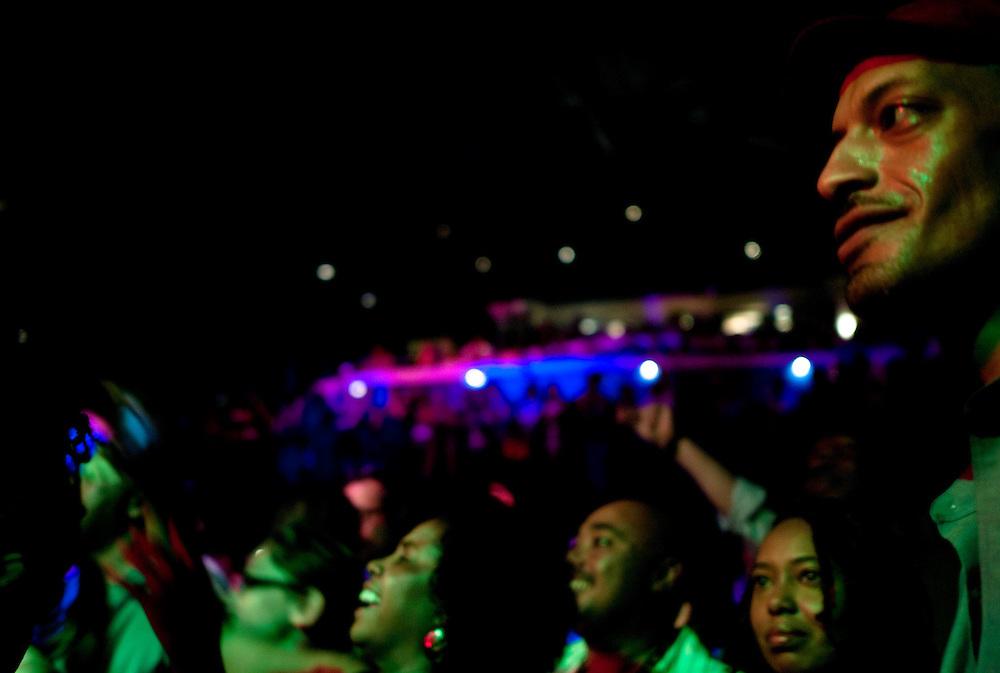 Fans look on as Steel Pulse rocks the 930 Club.