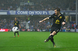 LONDON, ENGLAND - Sunday, October 21, 2012: Everton's Leighton Baines in action against Queens Park Rangers during the Premiership match at Loftus Road. (Pic by David Rawcliffe/Propaganda)