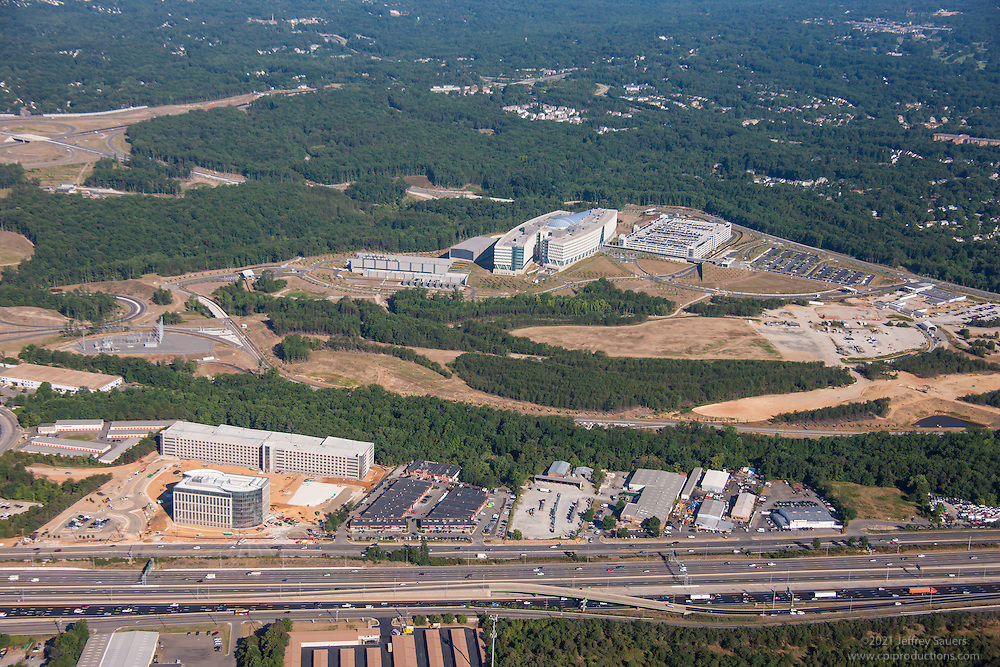 Patriot RIdge Office Park aerial photography in Springfield Virginia