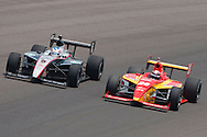09 May 2009: # 26 J.R. Hildebrand and (5) Mario Romancini at the Indianapolis 500 Carb Day Firestone 100 Race. Indianapolis, Indiana.