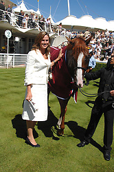 "FRANCESCA CUMANI with the winner of the Coutts Glorious Stakes ""Purple Moon'  at the 4th day of the Glorious Goodwood racing festival 2007 held at Goodwood Racecourse, West Sussex on 3rd August 2007.<br />
