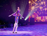 Imperial Ice Stars <br /> Nutcracker on ice <br /> Artistic Director Tony Mercer <br /> Music by Tchaikovsky<br /> at the <br /> Royal Albert Hall, London, Great Britain <br /> 28th December 2015 <br /> rehearsal <br /> <br /> <br /> <br /> Marilia Vygalova as Marie<br /> <br /> Vladislav Lysoi Nutcracker Prince <br /> <br /> <br /> <br /> International ice dance sensation, The Imperial Ice Stars, return for a third season at the Royal Albert Hall with their production of The Nutcracker on Ice for Christmas 2015, as part of their 10th anniversary world tour. The Nutcracker on Ice will open on Monday 28 December for a strictly limited season of 12 performances.<br /> <br /> <br /> <br />  <br /> <br /> Photograph by Elliott Franks <br /> Image licensed to Elliott Franks Photography Services