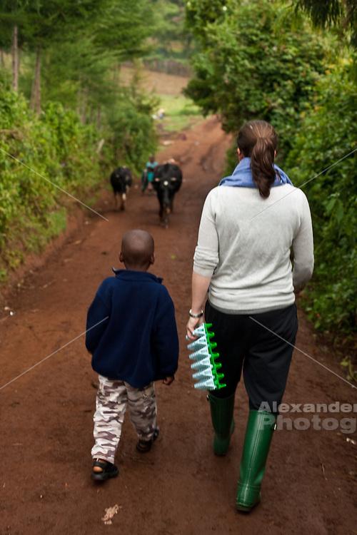 Njabini, Kenya - the Flying Kites orphanage or  children's home near the Aberdare mountains.