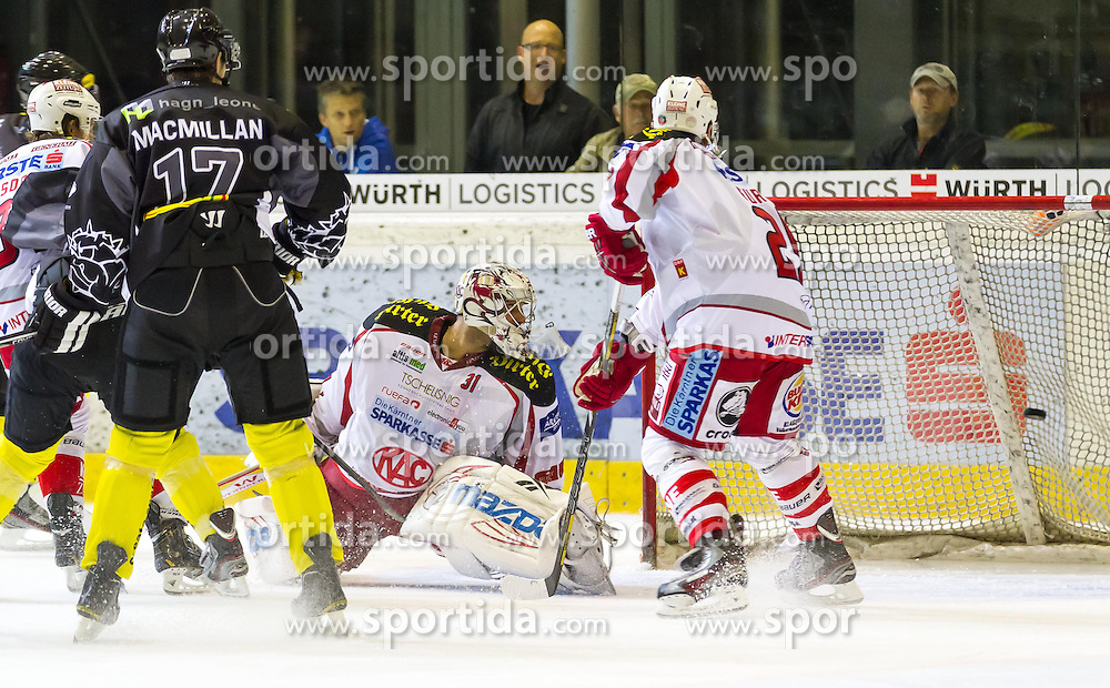 12.10.2012. Messestadion, Dornbirn, AUT, EBEL, Dornbirner EC vs EC KAC, 11. Runde, im Bild Andy Chiodo, (EC KAC, #31) during the Erste Bank Icehockey League 11nd round match between Dornbirner EC and EC KAC at the Exhibition Stadium, Dornbirn, Austria on 2012/10/12, EXPA Pictures © 2012, PhotoCredit: EXPA/ Peter Rinderer