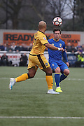 AFC Wimbledon midfielder Dannie Bulman (4) during The FA Cup match between Sutton United and AFC Wimbledon at Gander Green Lane, Sutton, United Kingdom on 7 January 2017. Photo by Stuart Butcher.