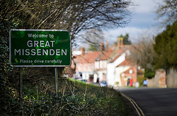 © Licensed to London News Pictures. 11/02/2020. Great Missenden, UK. The picturesque village of Great Missenden in Buckinghamshire which will be directly affected by government plans to push ahead with the HS2 (High Speed 2) railway. Photo credit: Ben Cawthra/LNP