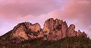 Seneca Rocks Sunset after a Storm - Monongahela National Forest in West Virginia