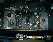 Cockpit controls detail inside a BAE Ststems Hawk of the Red Arrows, Britain's RAF aerobatic team.