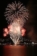 Fireworks over The Strand, as part of Federation North celebrations, Townsville, Queensland, Australia