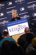 Jennifer Steinbrenner Swindal, General Partner and Vice Chairperson, New York Yankees at The James J. Peters VA Medical Center Visit with First Lady Michelle Obama and Dr. Jill Biden, wife of Vice President Joe Biden, along with baseball officials visit the James J. Peters VA Medical Center in the Bronx as a show of support for veterans through the Welcome Back Veterans.