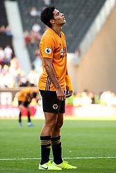 Raul Jimenez of Wolverhampton Wanderers cuts a frustrated figure - Mandatory by-line: Robbie Stephenson/JMP - 25/08/2019 - FOOTBALL - Molineux - Wolverhampton, England - Wolverhampton Wanderers v Burnley - Premier League