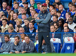 LONDON, ENGLAND - Saturday, September 29, 2018: Liverpool's manager Jürgen Klopp reacts during the FA Premier League match between Chelsea FC and Liverpool FC at Stamford Bridge. (Pic by David Rawcliffe/Propaganda)