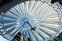 propellerblade roof postdamer platz in berlin germany