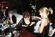 Jessica Behrens, Michelle Collins and Ruby Wax. Gilda's Club party. Isola. London. 5/2/01 © Copyright Photograph by Dafydd Jones 66 Stockwell Park Rd. London SW9 0DA Tel 020 7733 0108 www.dafjones.com