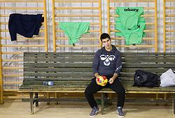 Goran Gajic, brother of Dragan Gajic during the Training Camp before IHF Men's Handball World Championship Spain 2013 on January 9, 2013 in Zrece, Slovenia. (Photo By Vid Ponikvar / Sportida.com)