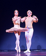 Les Ballets Trockadero de Monte Carlo <br /> at the Peacock Theatre, London, Great Britain <br /> press photocall <br /> 16th September 2015 <br /> <br /> <br /> Programme 1<br /> press night 16th September 2015 <br /> <br /> Paquita <br /> Chase Johnsey as Yakaterina Verbosovich<br /> <br /> Giovanni Goffredo as Sergey Legupski <br /> <br /> <br /> <br /> Photograph by Elliott Franks <br /> Image licensed to Elliott Franks Photography Services 5th January 2018 - News that on New Year's Day, the dancer shared a video on YouTube announcing his resignation from the all-male troupe Les Ballets Trockadero de Monte Carlo giving his reasons as the negative way he was treated by the company after announcing his intension to 'transition' (from male to female).