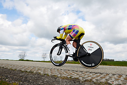 Lotta Lepistö (FIN) at Healthy Ageing Tour 2019 - Stage 4A, a 14.4km individual time trial starting and finishing in Winsum, Netherlands on April 13, 2019. Photo by Sean Robinson/velofocus.com