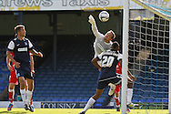 Picture by David Horn/Focus Images Ltd +44 7545 970036.18/08/2012.Cameron Belford of Southend United cannot stop Accrington Stanley taking the lead during the npower League 2 match at Roots Hall, Southend.