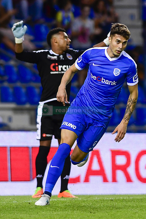 July 29, 2017 - Genk, BELGIUM - Genk's Jose Naranjo celebrates after scoring during the Jupiler Pro League match between RC Genk and Waasland-Beveren, in Genk, Saturday 29 July 2017, on the first day of the Jupiler Pro League, the Belgian soccer championship season 2017-2018. BELGA PHOTO LAURIE DIEFFEMBACQ (Credit Image: © Laurie Dieffembacq/Belga via ZUMA Press)