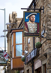 BURNLEY, ENGLAND - Thursday, August 16, 2018: A portrait of Burnley's manager Sean Dyche at The Royal Dyche pub near Burnley's stadium before the UEFA Europa League Third Qualifying Round 2nd Leg match between Burnley FC and İstanbul Başakşehir at Turf Moor. (Pic by David Rawcliffe/Propaganda)
